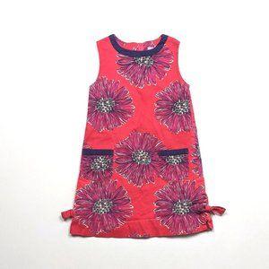 Lilly Pulitzer Pink Daisy Shift Dress Sz 5